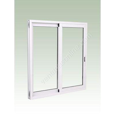 Ventana aluminio con persiana H2 medida 100x115